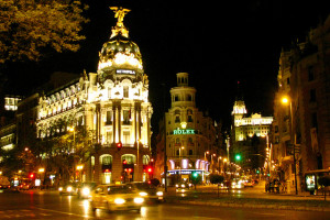Gran via A shopping street in Madrid
