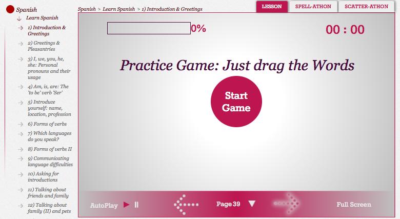 Jumble practice game