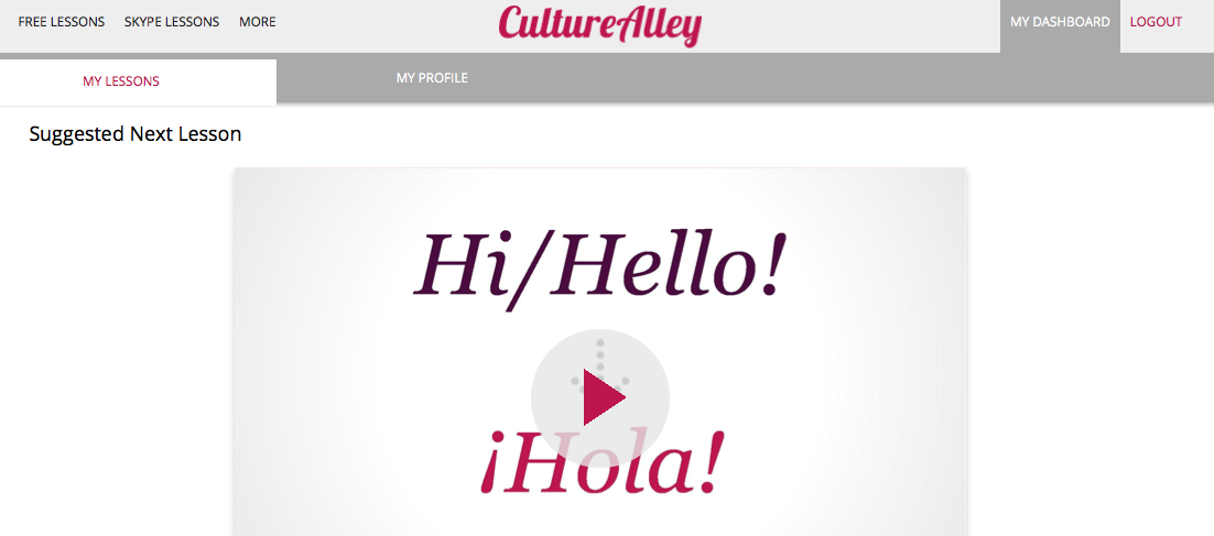 CultureAlley dashboard
